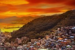 Gamcheon Culture Village View point located at Busan, South Kore. A royalty free stock photography