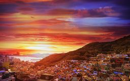Gamcheon Culture Village View point located at Busan, South Korea royalty free stock photo