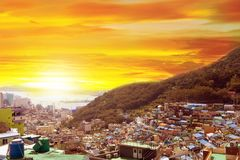 Gamcheon Culture Village View point located at Busan, South Korea stock photo