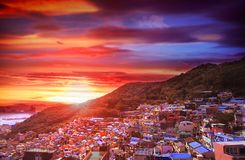 Gamcheon Culture Village View point located at Busan, South Korea royalty free stock photos