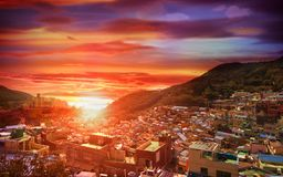 Gamcheon Culture Village View point located at Busan, South Korea stock images