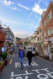 Gamcheon-Kultur-Dorf lizenzfreie stockfotografie
