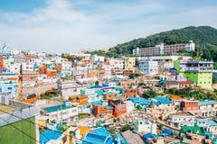 Gamcheon-Kultur-Dorf in Busan, Korea stockfotos