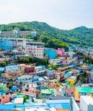 Gamcheon-Kultur-Dorf, Busan, S?dkorea lizenzfreie stockbilder