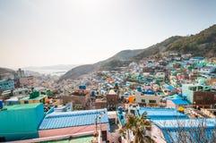 Gamcheon kulturby Arkivfoto