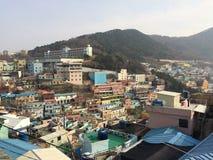 Gamcheon kulturby fotografering för bildbyråer