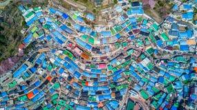 Gamcheon kulturby, Busan, Sydkorea, flyg- för Gamcheon för bästa sikt by kultur arkivbild