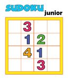 Game 107, sudoku. A game for children with the numbers vector illustration