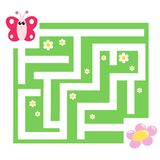 Game 110, the labyrinth. Digital illustration of a game for children Stock Images