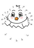 Game 126, the chick. The game of the dots for children Royalty Free Stock Image