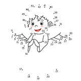 Game 132, angel. The game of the dots for children that it represents an angel Royalty Free Stock Photography