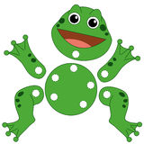Game 135, the frog to be cut out Stock Photos
