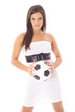 Game on. Shot of a woman - game on Stock Photography