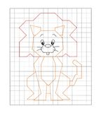 Game 15 - Color the lion stock illustration