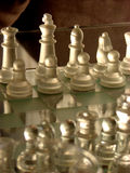 The Game. A chess game getting ready Stock Photography