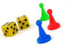 Game. Some pieces of a game on a white background Royalty Free Stock Photo