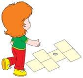 Game. Vector clip-art / children's illustration for yours design, postcard, album, cover, scrapbook, etc Royalty Free Stock Photo