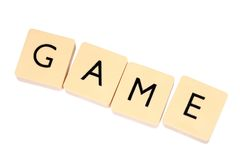 Game. Tiles with letters - 'game' word Royalty Free Stock Photography