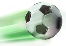 In game. Illustration of a soccer ball in action Royalty Free Stock Photos