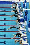 Game. In the aquatics center on the Paralympic games in Beijing 2008 Royalty Free Stock Images
