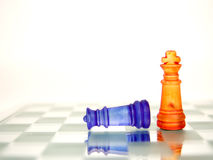 The game. Chess game in glass boarding playing challenge Stock Photo