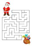 Game 67, Christmas labyrinth Royalty Free Stock Photos