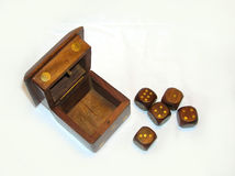 Game. Brown wooden cubes over white Royalty Free Stock Photography