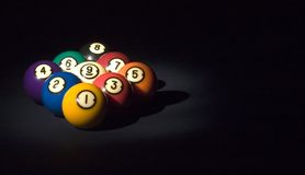 Game of 9 ball Stock Photo