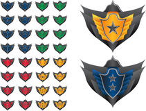 Game achievement badge. Vector pack Stock Photos