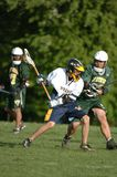 Boys High School Lacrosse. Game action of a boys High School Lacrosse game in Central New jersey Stock Images