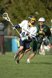 Boys High School Lacrosse. Game action of a boys High School Lacrosse game in Central New jersey stock photos