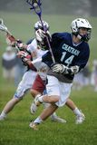 Boys Lacrosse Tournament. Game action of a boys Lacrosse game in a tournament in New Jersey Royalty Free Stock Photos