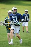Boys Lacrosse Tournament. Game action of a boys Lacrosse game in a tournament in New Jersey stock photography