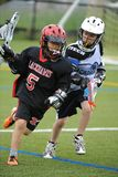 Boys Lacrosse Tournament. Game action of a boys Lacrosse game in a tournament in New Jersey stock photos