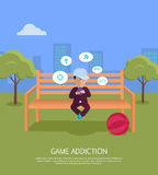 Game Addiction Banner Stock Photography