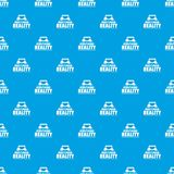 Game additional reality pattern vector seamless blue. Repeat for any use stock illustration