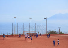 The game of amateur teams in Antofagasta, Chile Royalty Free Stock Photography