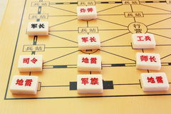 The game of army chess. The traditional game of army chess,China,Asia Stock Photo