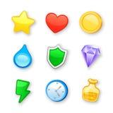 Game art design icons vector set Royalty Free Stock Photos