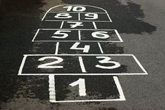 Game on asphalt Royalty Free Stock Photography