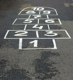 Game on asphalt Stock Images