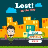 Game asset funny guy cartoon Stock Photo