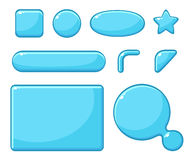 Game assets, GUI for game. Button vector illustration