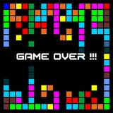 Game background with colorful boxes stock illustration