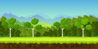 Game background 2d  application.. Game background 2d game application. Vector design. Tileable horizontally. Size 1024x512. Ready for parallax effect Royalty Free Stock Photo
