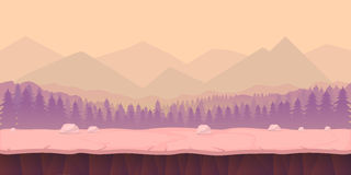 Game background 2d application. Vector design. Tileable horizontally vector illustration