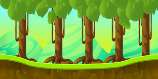Game background 2d  application. Vector design. Tileable horizontally. Size 1024x512. Ready for parallax effect Royalty Free Stock Photography