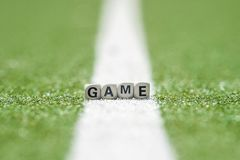 Game background and little cubes with thematic text royalty free stock photo