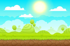 Game Background made from seamless endless elements Stock Photos