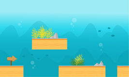 Game background style underwater. Vector art illustration Stock Image